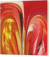 Red N Yellow Flowers 4 Wood Print