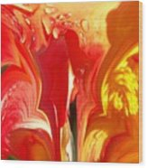 Red N Yellow Flowers 5 Wood Print