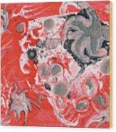 Red Nebula Wood Print