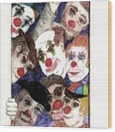 Red Noses Wood Print