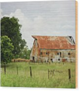 Red Oak Barn Wood Print