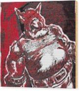 Red Ogre Wood Print