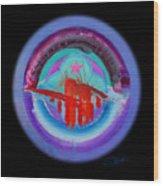 Red On Violet Wood Print