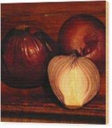 Red Onions Wood Print