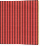Red Orange Striped Pattern Design Wood Print