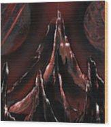 Red Oxide Wood Print