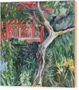 Red Pagoda Wood Print