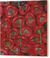 Red Paprika Wood Print