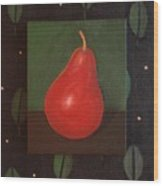 Red Pear Wood Print