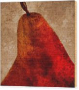 Red Pear II Wood Print by Carol Leigh