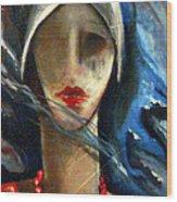 Red Pearls Wood Print