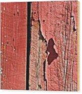 Red Peeling Paint- Fine Art Wood Print