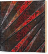 Red Pepper Abstract Wood Print