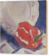 Red Pepper Wood Print