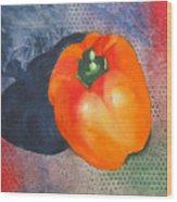 Red Pepper Solo Wood Print
