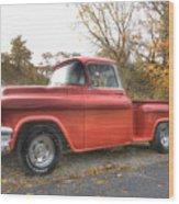 Red Pick-up Wood Print by Steve Gravano