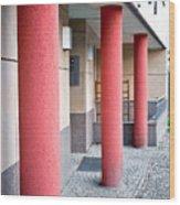 Red Pillars Wood Print