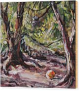 Red Pines Floater Wood Print