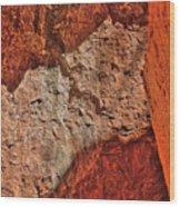 Red, Pink And Orange Wood Print