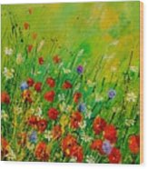 Red Poppies 450708 Wood Print