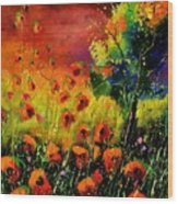 Red Poppies 451130 Wood Print