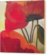 Red Poppies Wood Print