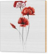 Red Poppy Fine Art Print Wood Print
