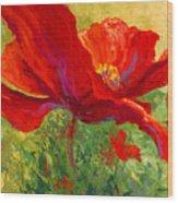 Red Poppy I Wood Print