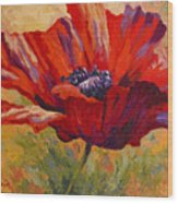 Red Poppy II Wood Print