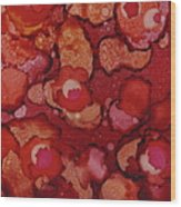Red Poppy Profusion Wood Print