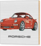 1997  Porsche 993 Twin Turbo R Wood Print