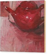 Red Pot Wood Print