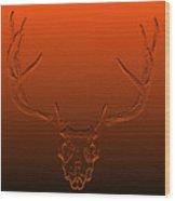 Red Rack Wood Print