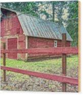Red Rail Barn Wood Print
