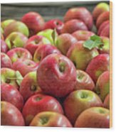 Red Ripe Apples Wood Print