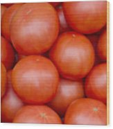 Red Ripe Tomatoes Wood Print