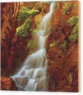 Red River Falls Wood Print