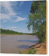 Red River Gainesville Texas East Wood Print