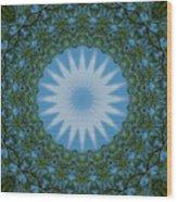 Red River Star Kaleidoscope 2 Wood Print