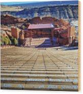 Red Rock Amphitheater Wood Print