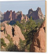 Red Rock Canyon And Garden Of The Gods Wood Print
