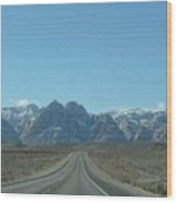 Red Rock Canyon Drive Wood Print