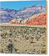 Red Rock Canyon Panorama Wood Print