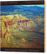 Red Rock Canyon Poster Print Wood Print