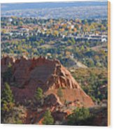 Red Rock Canyon Rock Quarry And Colorado Springs Wood Print
