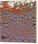 Red Rock Canyon Stones 2 Wood Print