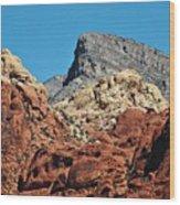 Red Rock Canyon Vista Nevada Wood Print