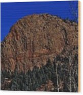 Red Rock Cliff Wood Print