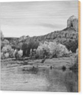 Red Rock Crossing At Cathedral Rock Wood Print