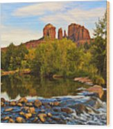 Red Rock Crossing Three Wood Print